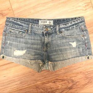 Victoria's Secret Pink denim jean shorts